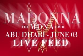 MDNA Tour - Live Feed - Abu Dhabi - June 03
