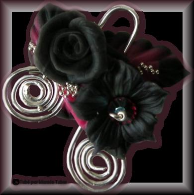 Tube fleur en porcelaine 2979