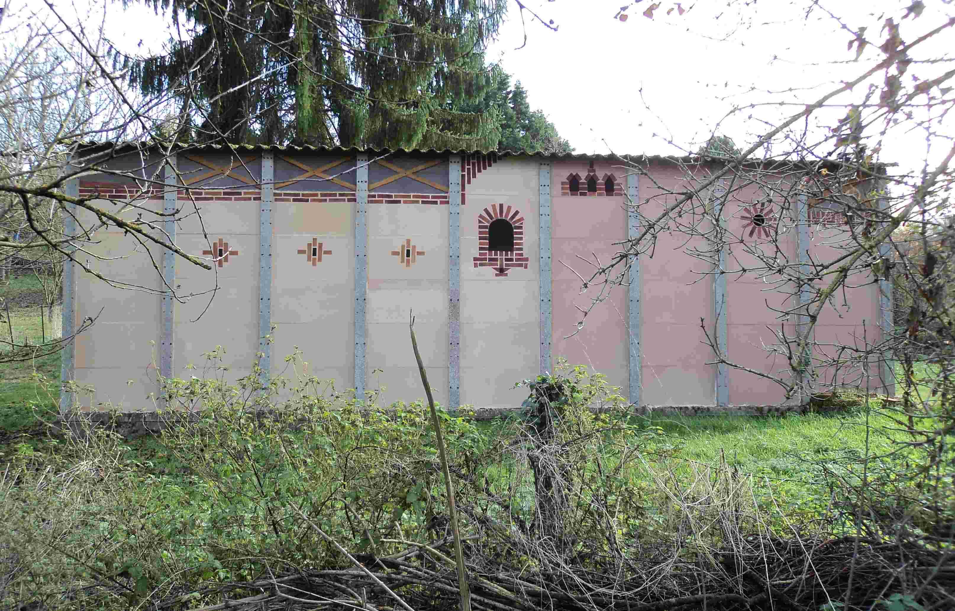 métamorphose du mur en béton