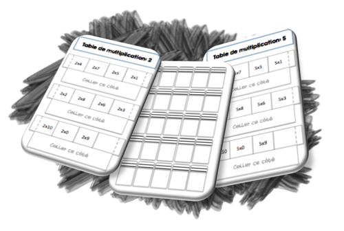 Cahier interactif: Tables de multiplications