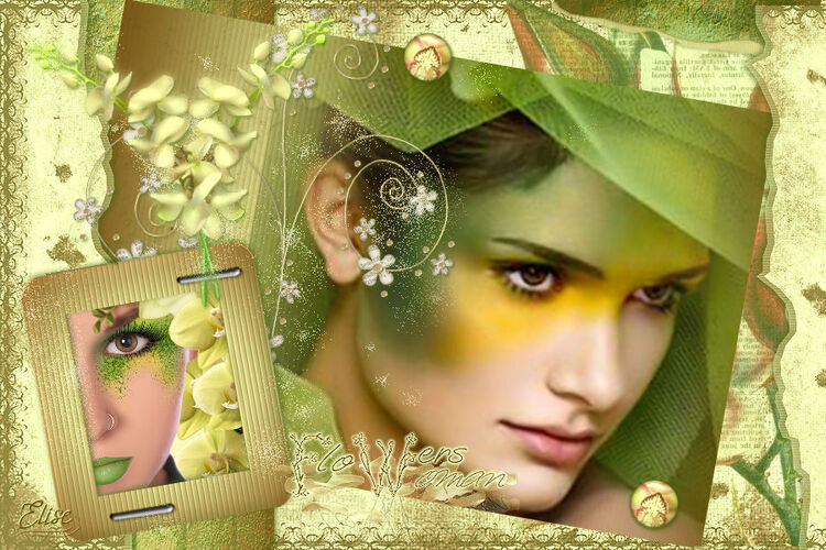 Flowers woman   de Libellule   psp
