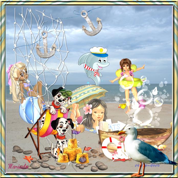 vos créations 1 avec le cluster vacances à  la mer