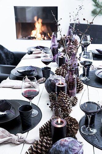 quelques idées - déco de table de Noël