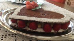 Coeur en pâte sablée chocolat