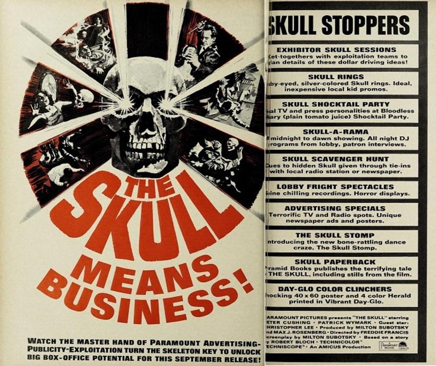 the skull box office usa 1965