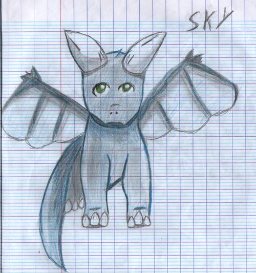 Une tentative de dessin de Sky (Dessin fait en cours #14)