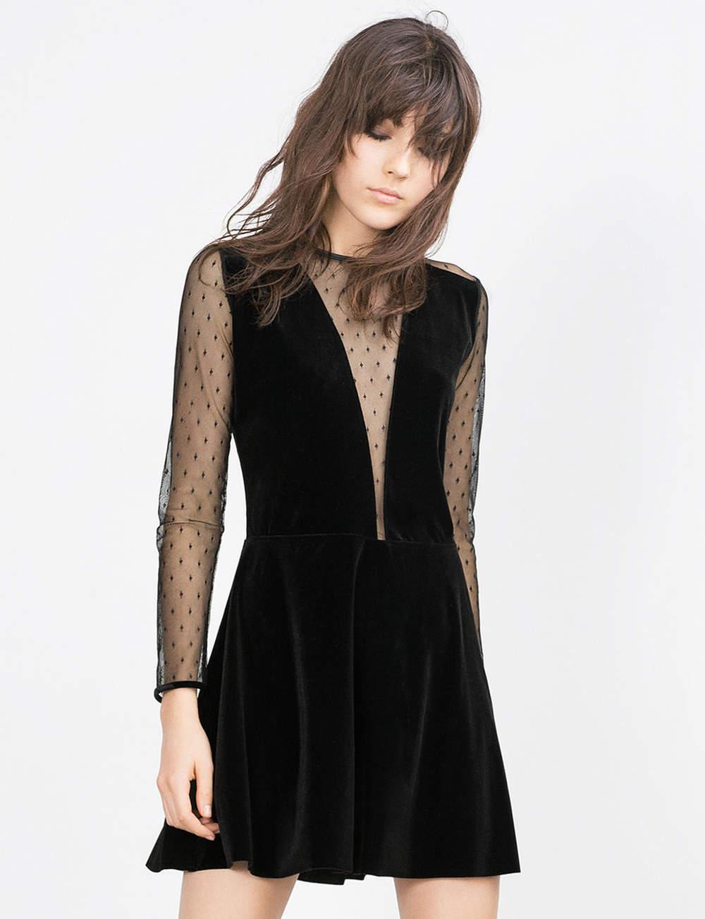 Robe noire : velours