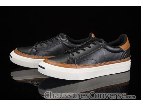 chaussure cuir marron basse homme converse