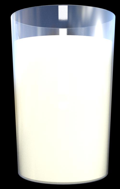 Tube d'un verre de lait (image-render)