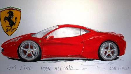 comment dessiner ferrari 458 italia