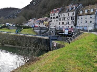 DRC - Besançon - Entrée du tunnel fluvial sous la Citadelle Vauban
