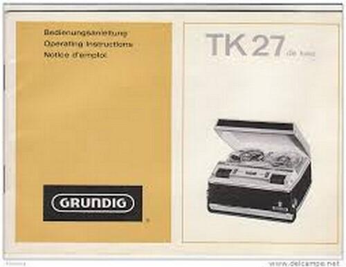 Magnétophone Grundig TK 27
