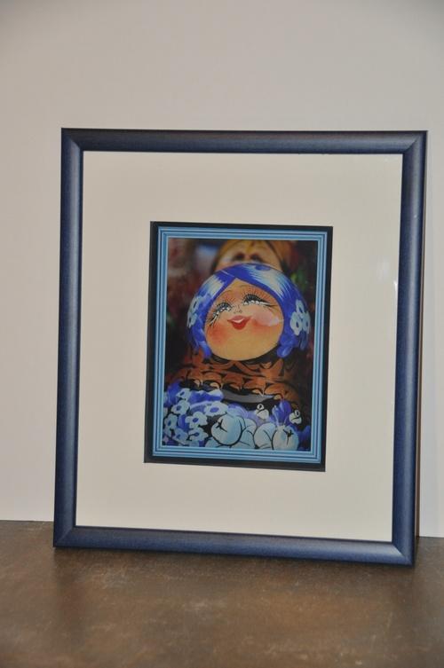 Les matriochkas 8/.. La belle bleue.