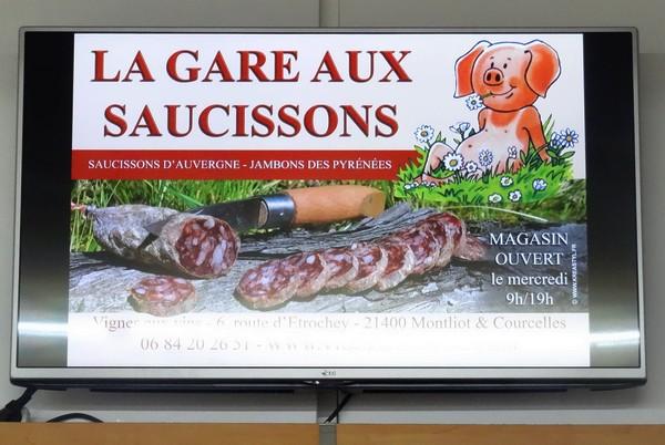 L'association des Vitrines du Pays Châtillonnais a installé des écrans publicitaires dans différents lieux de Châtillon sur Seine