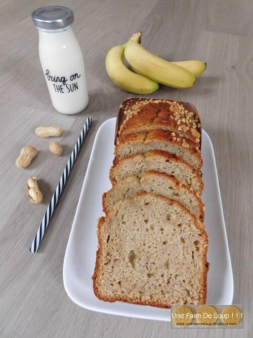 Cake banane & beurre de cacahuète