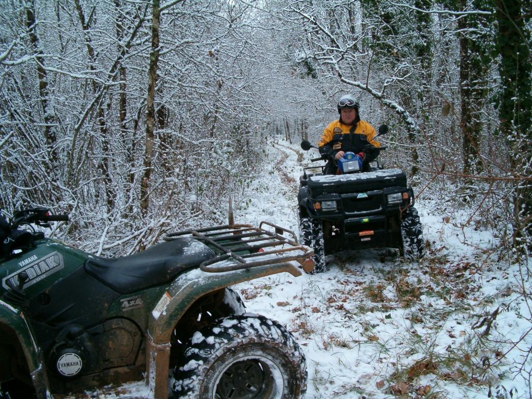 Quad sous la neige