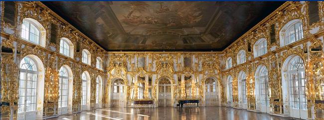 Russie: le Palais Catherine à Tsarskoe Selo