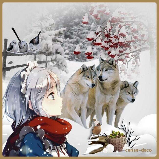 gif hiver pour le défi de fée capucine