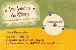 carte de contact des jardins du Plessis
