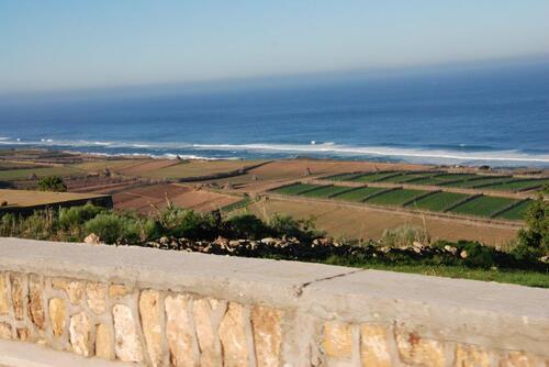Des champs cultivés jusqu'à la côte