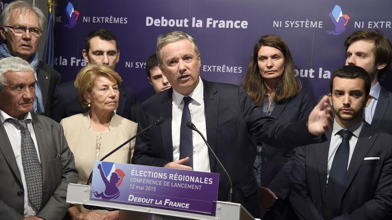 Nicolas Dupont-Aignan, le président de Debout La France.