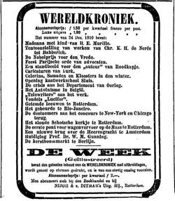 Het Antoinisme in België (Wereldkroniek 24 Dec.1910))Nieuwe Rotterdamsche Courant 23-12-1910)