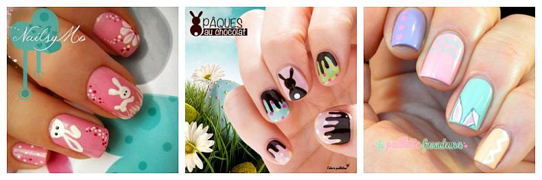 Joyeuses Pâques nail art