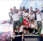 La parade des Vainqueurs de la Coupe d'Algérie 2014