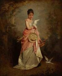 Élégante aux colombes, Marcellin Laporte