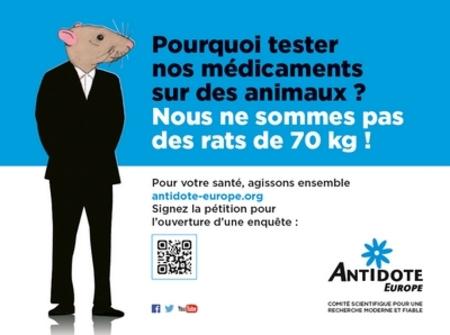 Dans le métro contre l'expérimentation animale