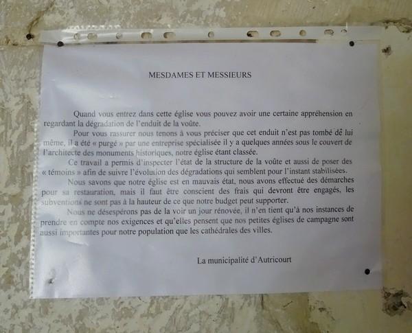 L'église d'Autricourt