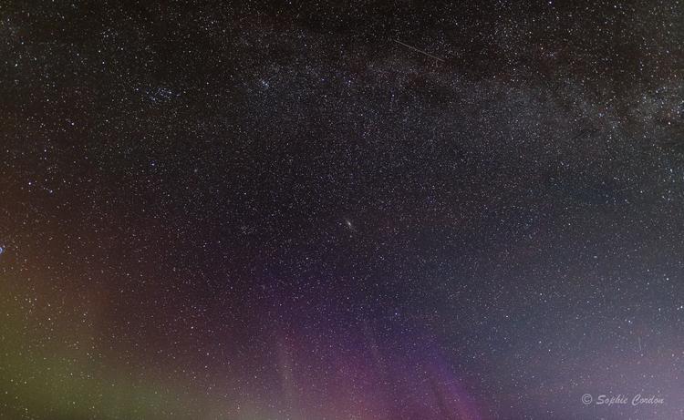 Aurores et voie lactée