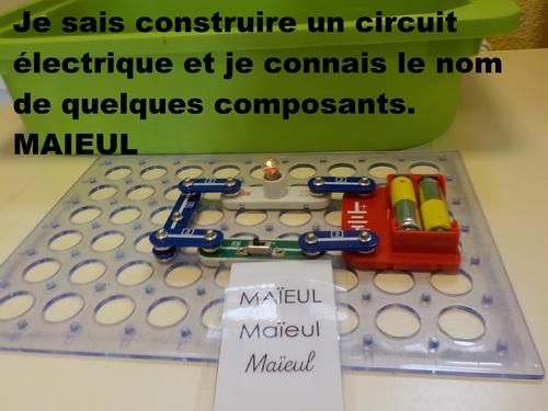 circuit électrique en maternelle