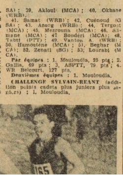 """Le Mouloudia vainqueur du Challenge """"Sylvain Réant"""""""
