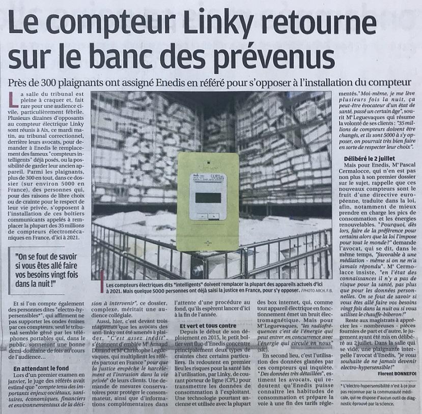 28 mai 2019 - Audience civile tenue au Tribunal Administratif d'Aix en Provence