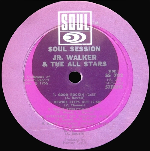 "Jr. Walker & The All Stars : Album "" Soul Session "" Soul Records SS 702 [ US ]"