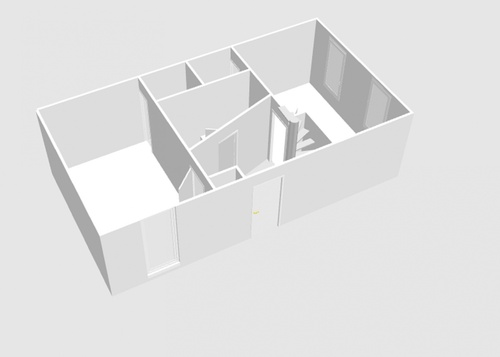 Plan de l'appartement du bas