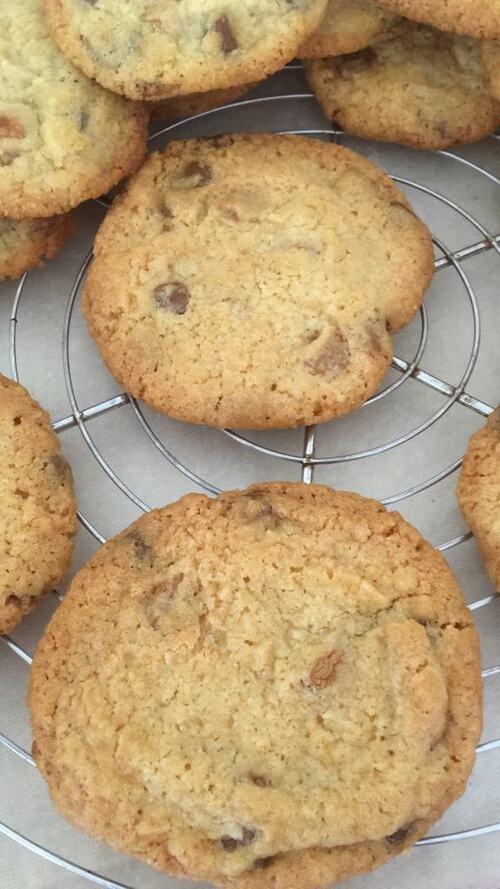 Des Cookies Américain avec des chipits Canadien