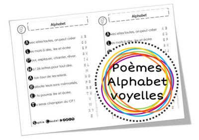 Poèmes alphabet, lettres et voyelles