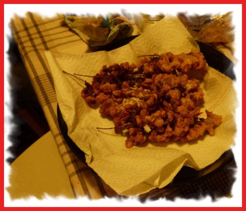 Les beignets de fleurs d'acacia .....