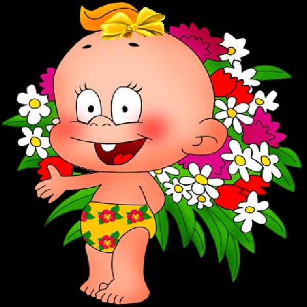 Tubes babies fleurs