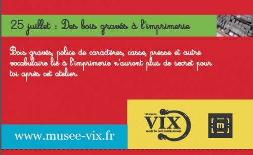 Programme des animations pour l'été 2012 au Musée du Pays Châtillonnais-Trésor de Vix