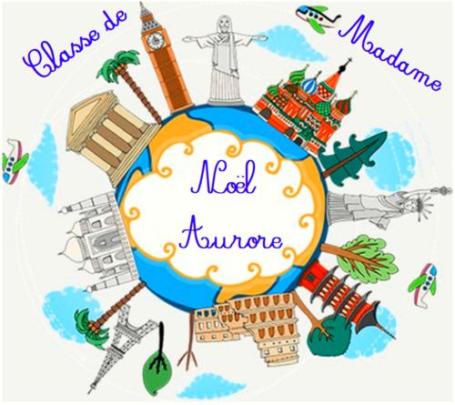 """Affiche de porte - thème """"voyage autour du monde"""""""