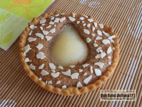 Tartelette poire crème amandine au philadelphia Milka