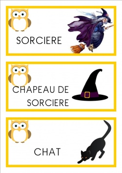 vocabulaire mots ps Halloween