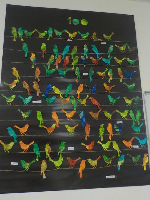 100 oiseaux des 100 jours d'école
