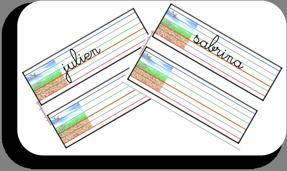 pr233nom en cursive avec lignage de couleur