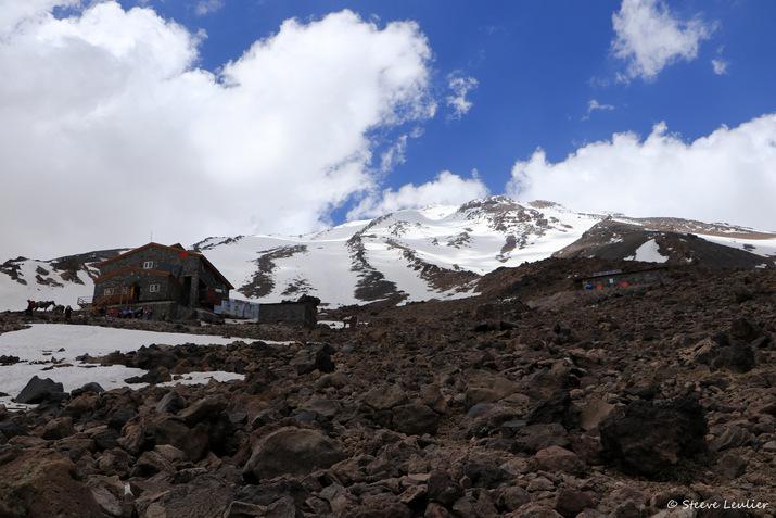 Camp de base du Damavand à 4200m d'altitude