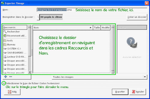 [tuto GIMP 2.8] Enregistrer et exporter une image