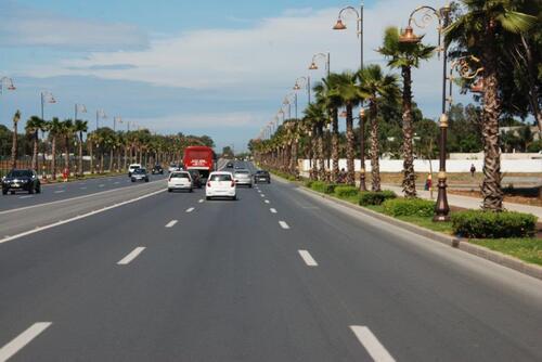Un boulevard de Rabat